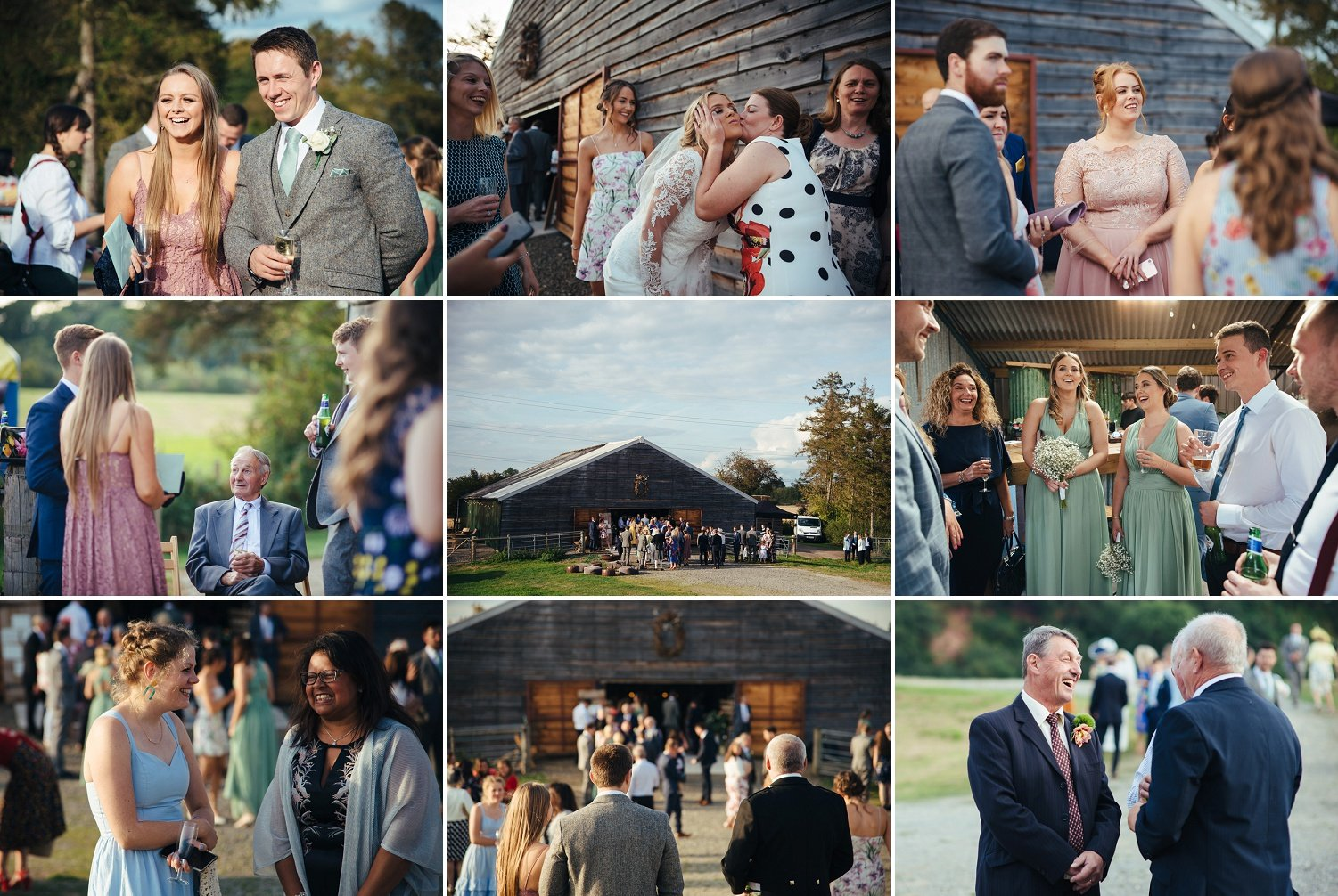 Guests at a Barn wedding at Redbank in Herefordshire