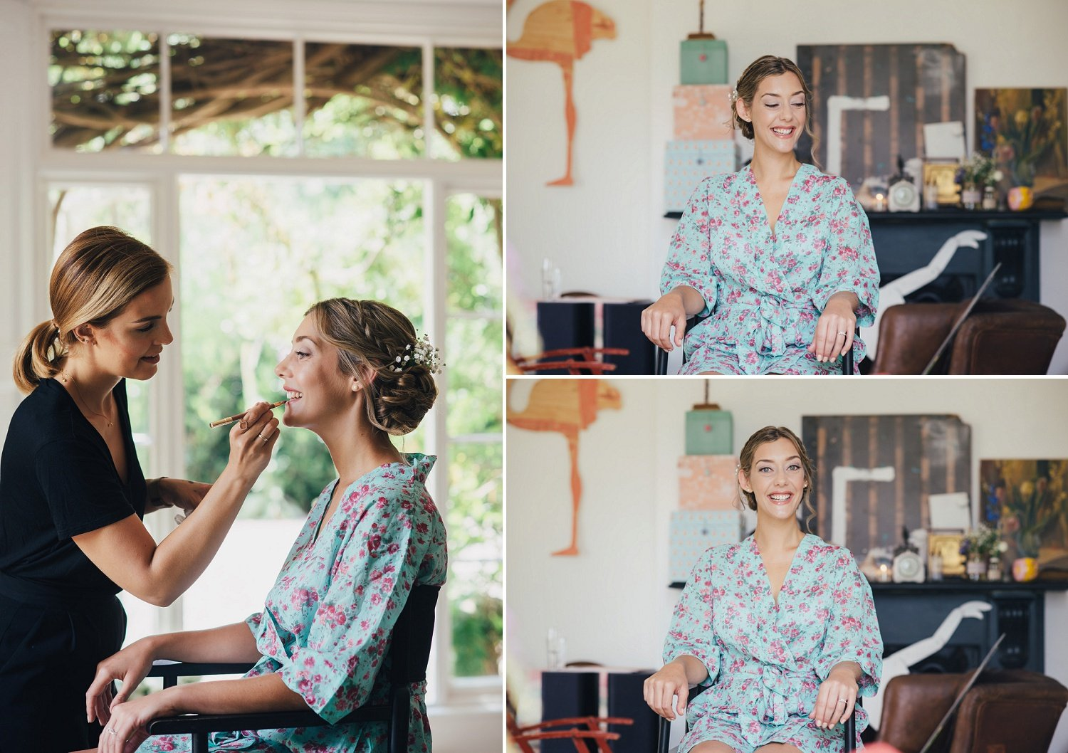 Natural look applied by makeup artist Sasha Brown, booked for a bride's wedding