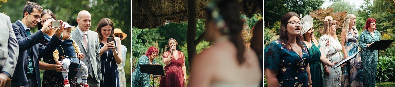 Wedding singers at Westonbury Mill Water Gardens