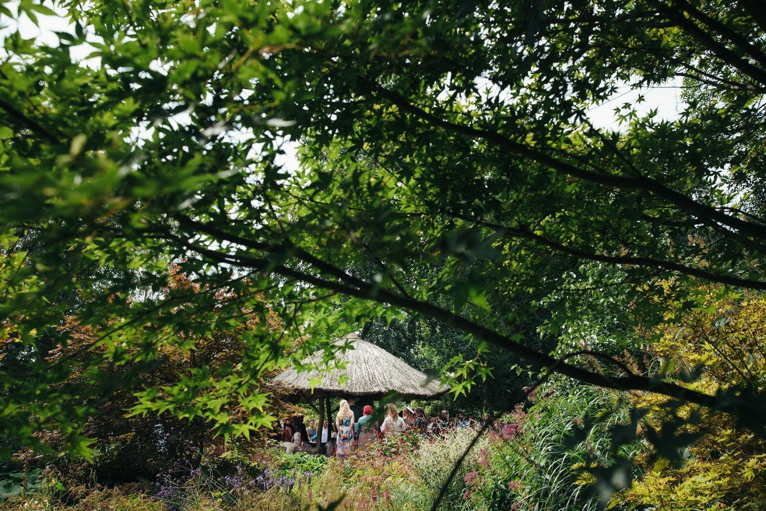 Wedding ceremony in the middle of nature in Herefordshire