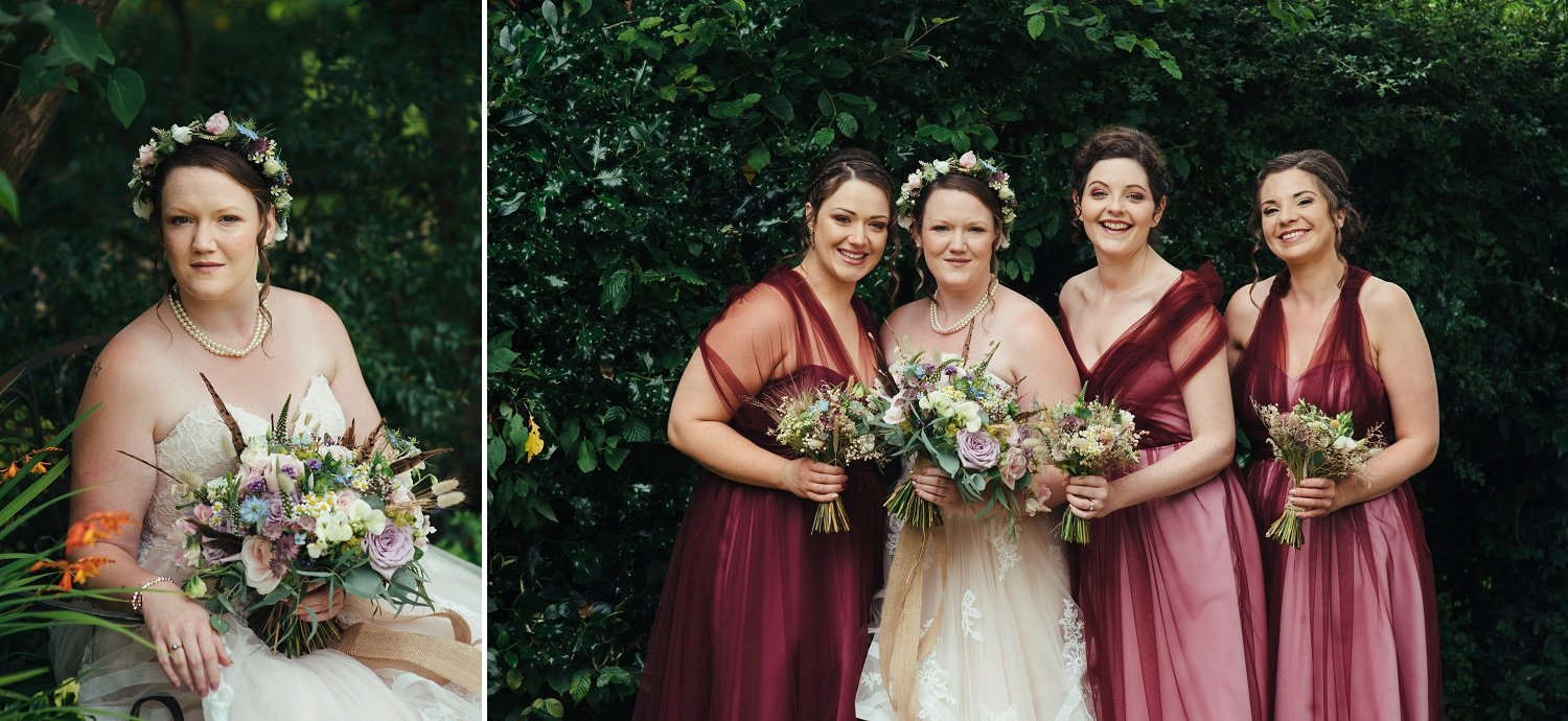 Bridesmaids dresses by Stephanie Kyles Bridal, Herefordshire