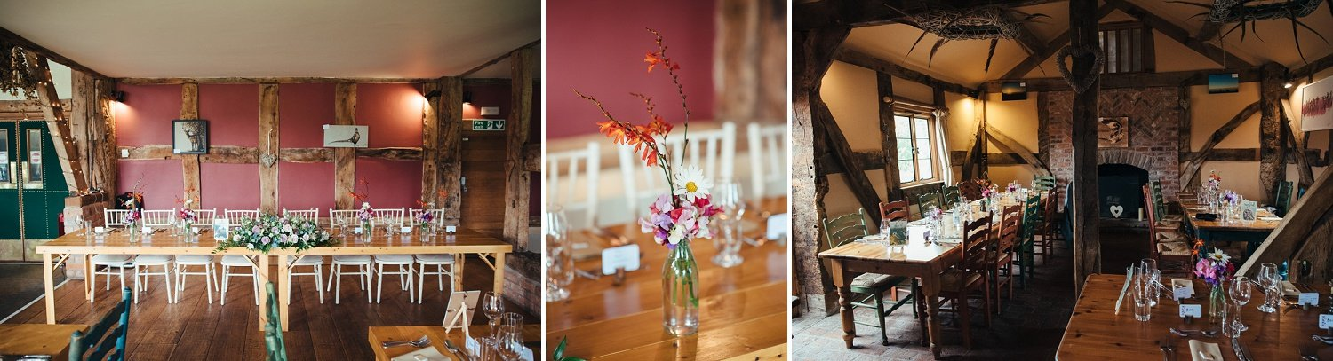 Issy & Bella provided freshly picked flower bouquets at the Cider Barn in Herefordshire