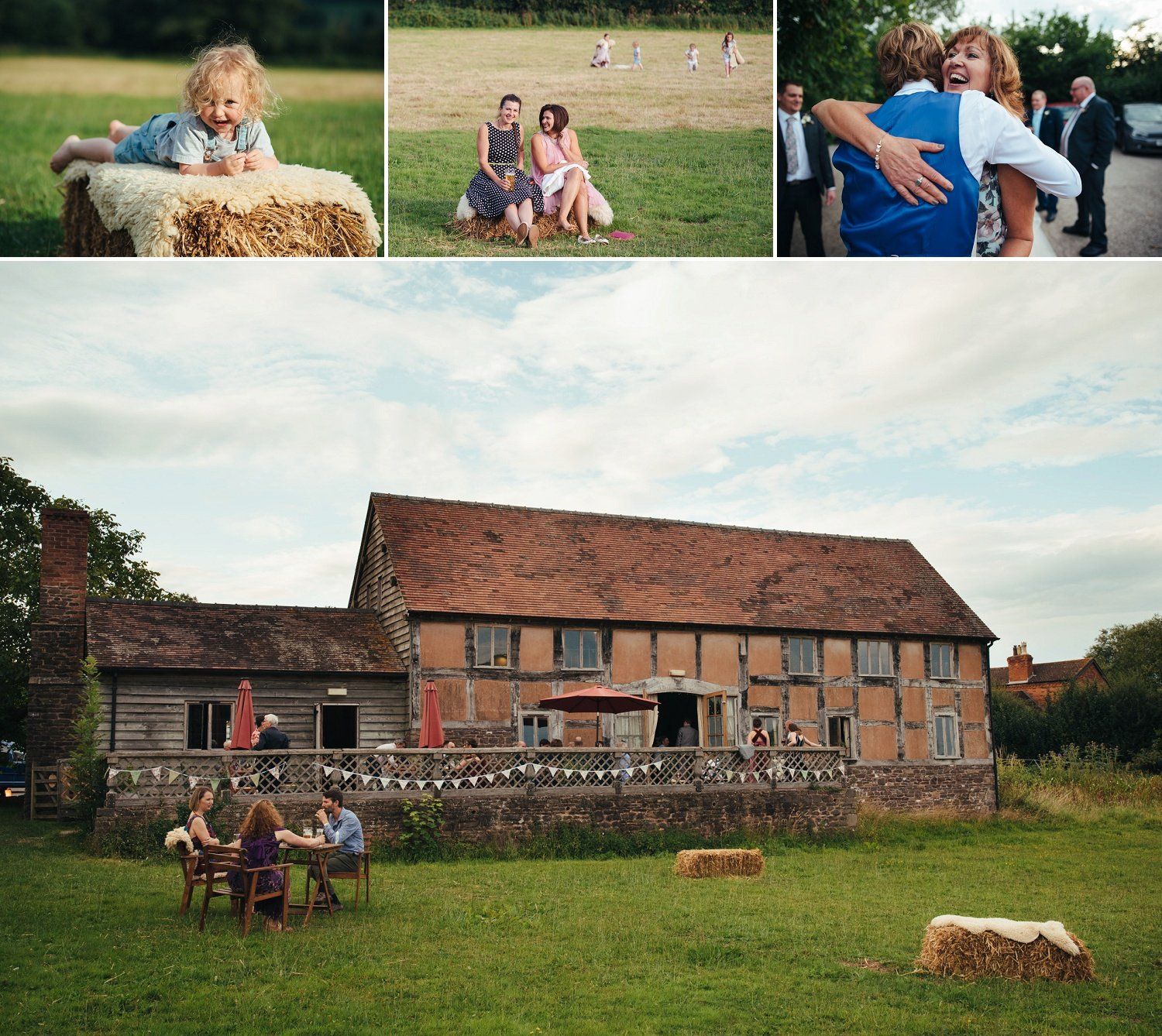 Haybales and a wedding in the middle of nature