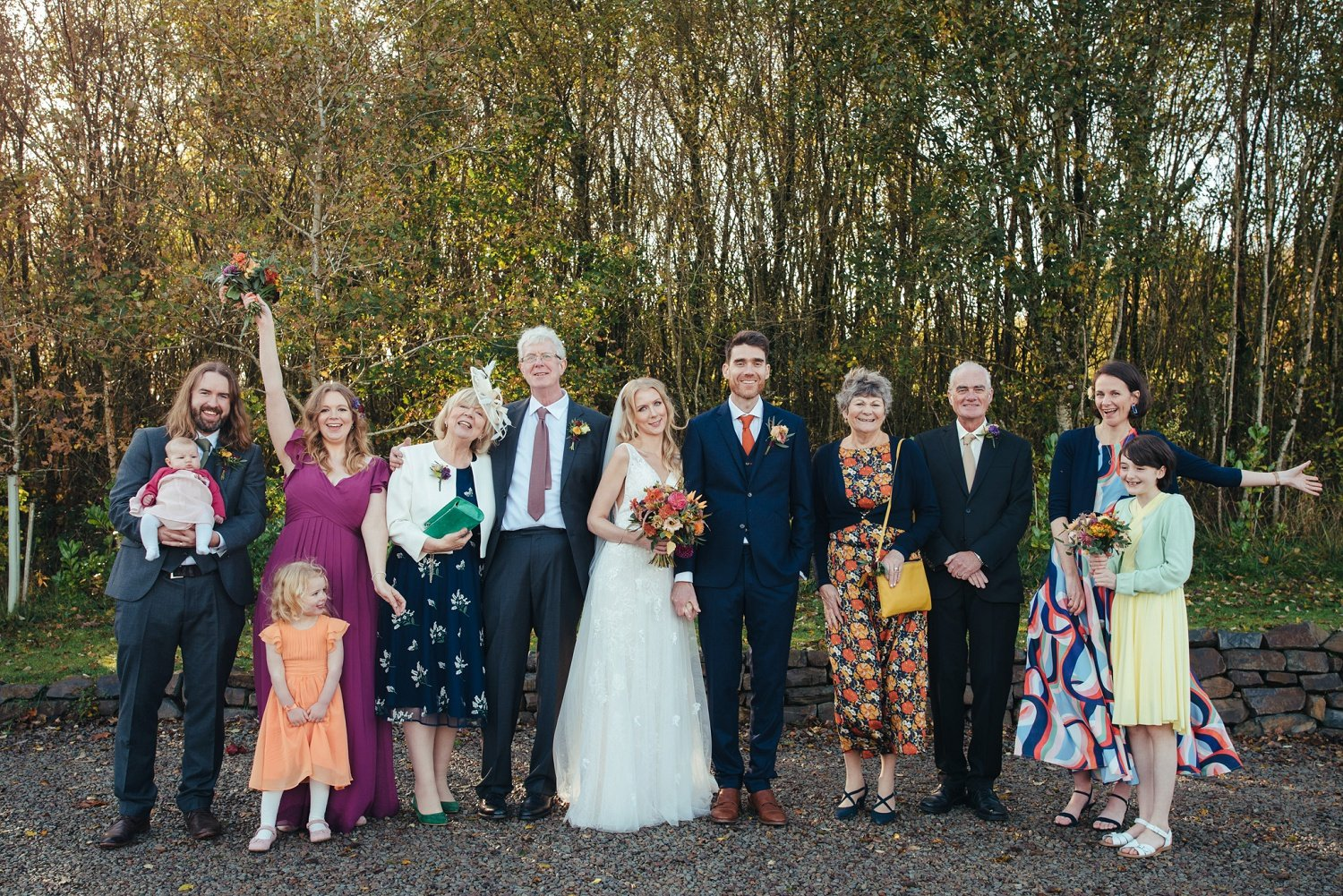 12 guests wedding in 2020 at Tree Top Escape in Devon, UK